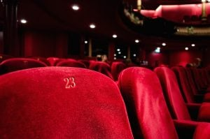 red cinema seating