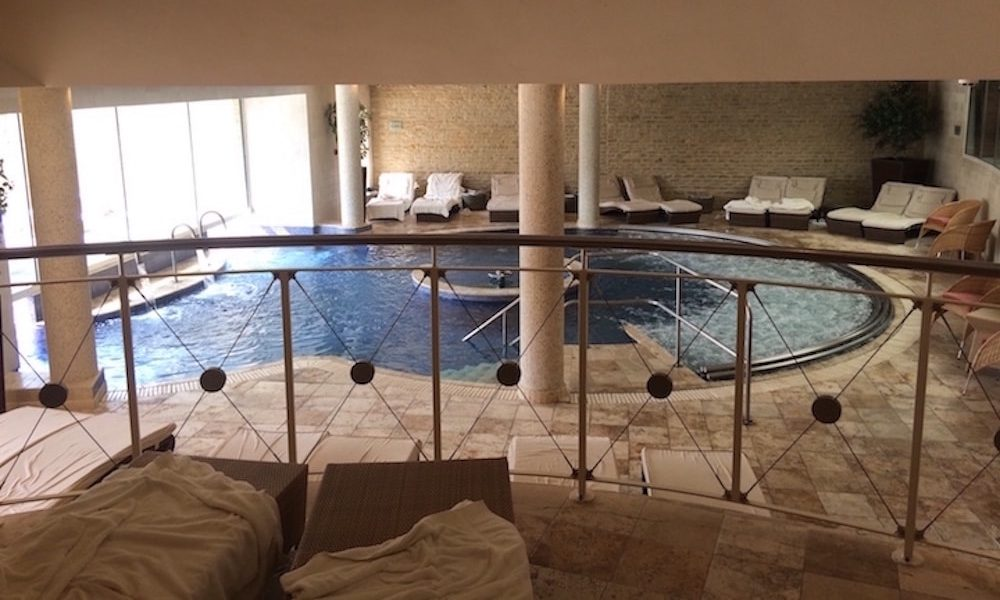 spa hydrotherapy pool balcony loungers