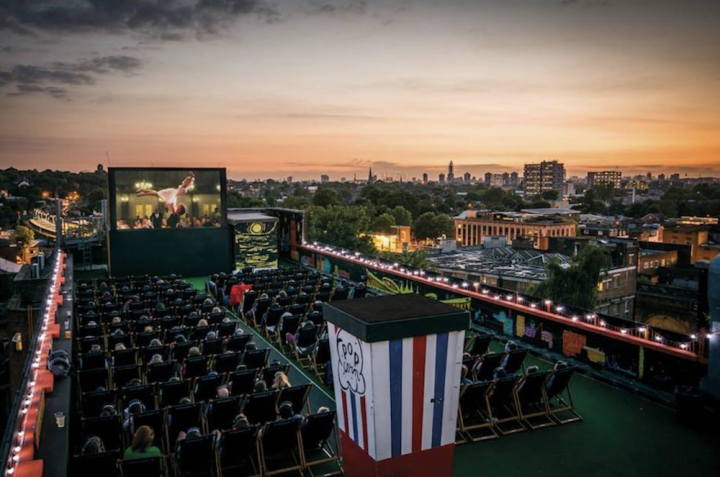 rooftop cinema outside popcorn