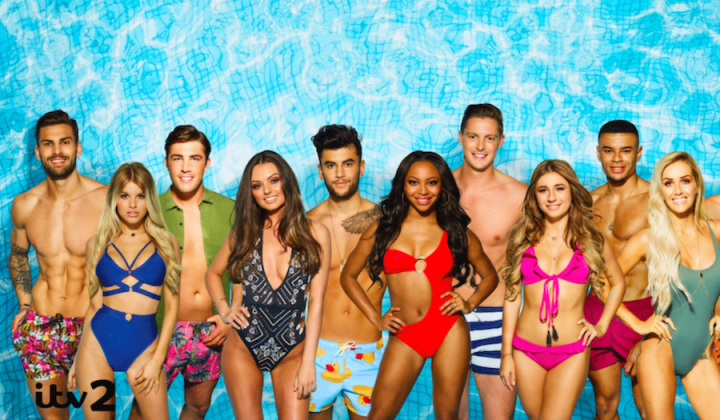 love island cast bikinis swimwear blue